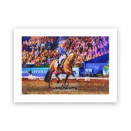 Valegro and Charlotte Dujardin digital art print by Vanderbroms
